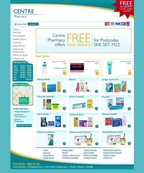 centre pharmacy | eCommerce + Website
